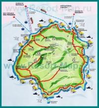Туристическая карта острова Тасос
