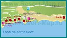 Карта отелей Брелы