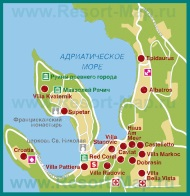 Карта отелей Цавтата