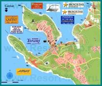 Подробная карта курорта Цавтат