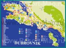 Карта отелей Дубровника