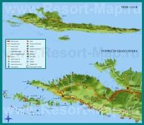 Туристическая карта острова Хвар