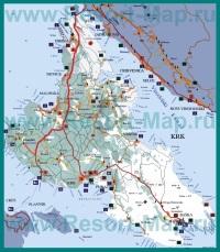 Туристическая карта Крк с достопримечательностями