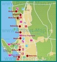 Карта отелей Макарски