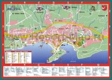 Подробная карта города Макарска