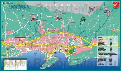 Туристическая карта Макарски