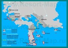 Туристическая карта курорта Медулин