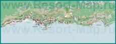 Подробная карта города Опатия