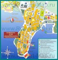 Туристическая карта центра Пореча