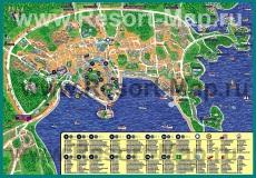 Подробная туристическая карта города Пула
