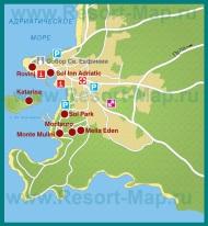 Карта отелей Ровиня