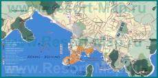 Подробная карта Ровиня с окрестностями