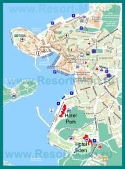 Туристическая карта города Ровинь