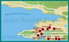 Карта отелей Сплита