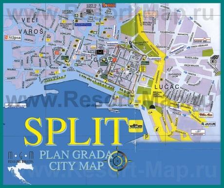 Туристическая карта Сплита