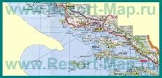 Подробная карта Средней Далмации