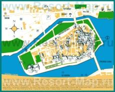 Подробная карта города Трогир