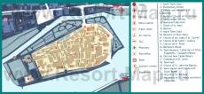 Туристическая карта Трогира с достопримечательностями