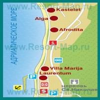 Карта отелей Тучепи