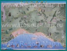 Подробная карта курорта Тучепи