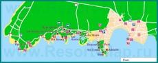 Карта отелей Умага