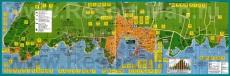 Подробная карта курорта Умаг