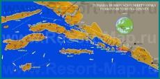 Подробная карта Южной Далмации