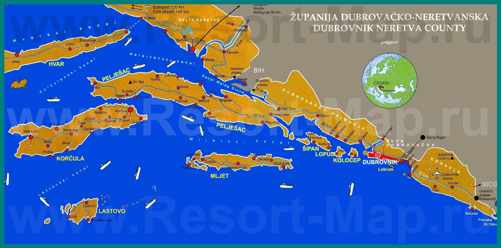 Подробная карта Южной Далмации: http://resort-map.ru/horvatia/karta-yujnoy-dalmacii/podrobnaya-karta-yujnoy-dalmacii.shtml