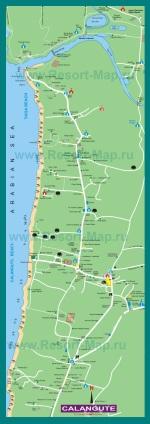 Подробная карта курорта Калагнут