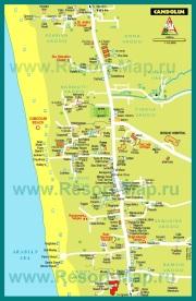 Карта отелей Кандолима