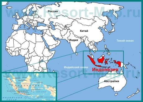 �ндонезия на карте мира