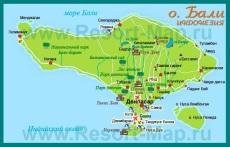 Карта Бали на русском языке
