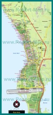 Карта отелей Куты
