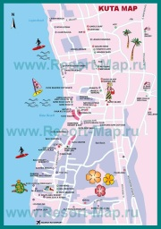Туристическая карта Кута