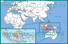 Остров Бали на карте мира
