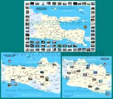 Подробная карта острова Ява