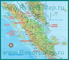 Карта острова Суматра
