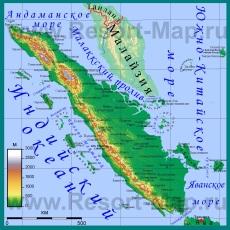 Подробная карта Суматры на русском языке