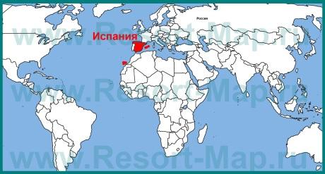 �спания на карте мира