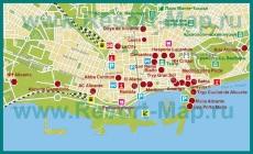 Карта отелей Аликанте