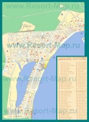 Подробная карта отелей Алькудии