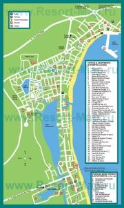 Туристическая карта Алькудии с отелями