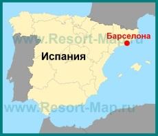 Барселона на карте �спании