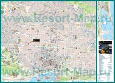 Карта Барселоны с отелями