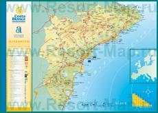 Подробная карта побережья Коста-Бланка