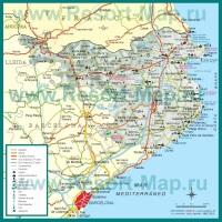 Карта Коста-Брава с отелями