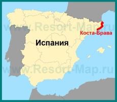 Коста-Брава на карте �спании
