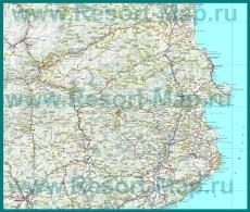 Подробная карта побережья Коста-Брава