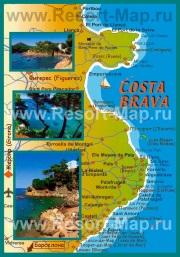 Туристическая карта Коста-Брава