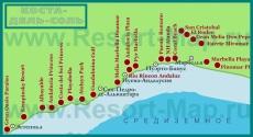 Карта отелей Коста-дель-Соль